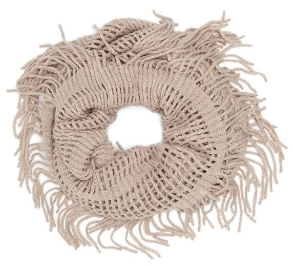 David & Young - Open Weave Infinity Scarf