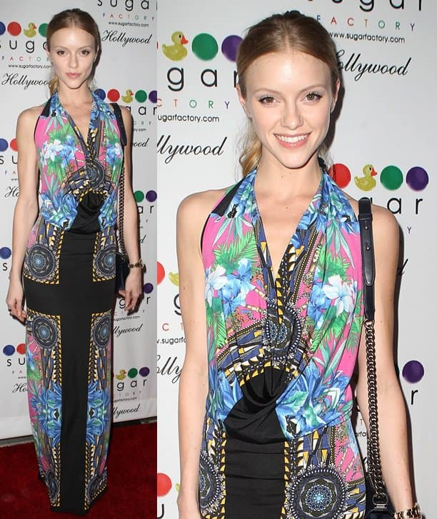Take a cue from Elle Evans, who rocked a scarf-print dress on the red carpet