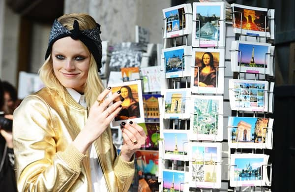 hanne gaby postcards september 28 paris fashion week head wrap 2013 tommy ton bandanna reverse style scarf
