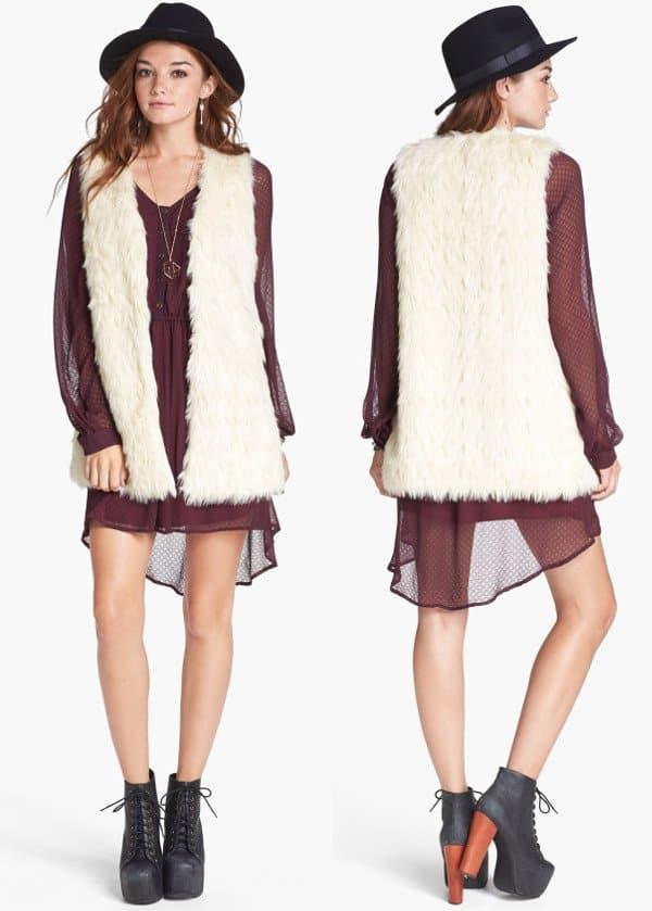 Jack - Faux Fur Long Vest