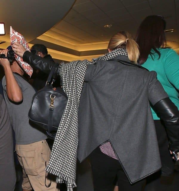 Kristen Bell at Los Angeles International airport