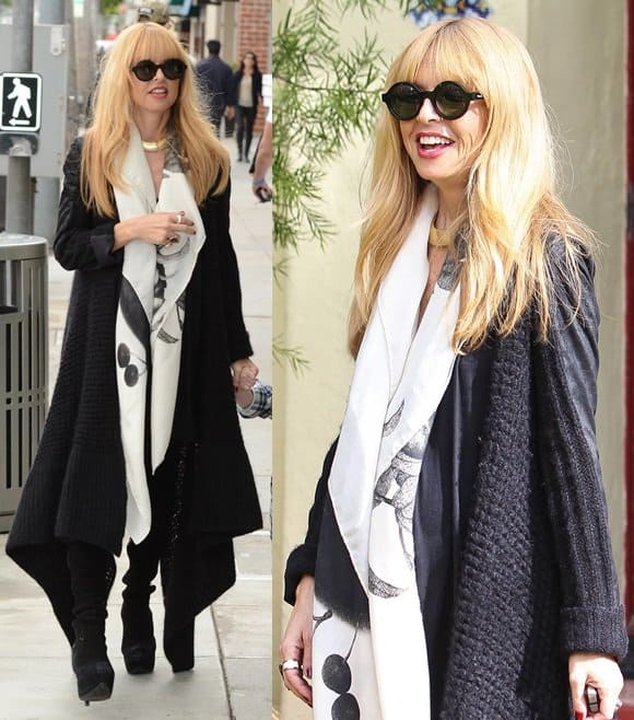 Rachel Zoe And Son Skyler In Beverly Hills