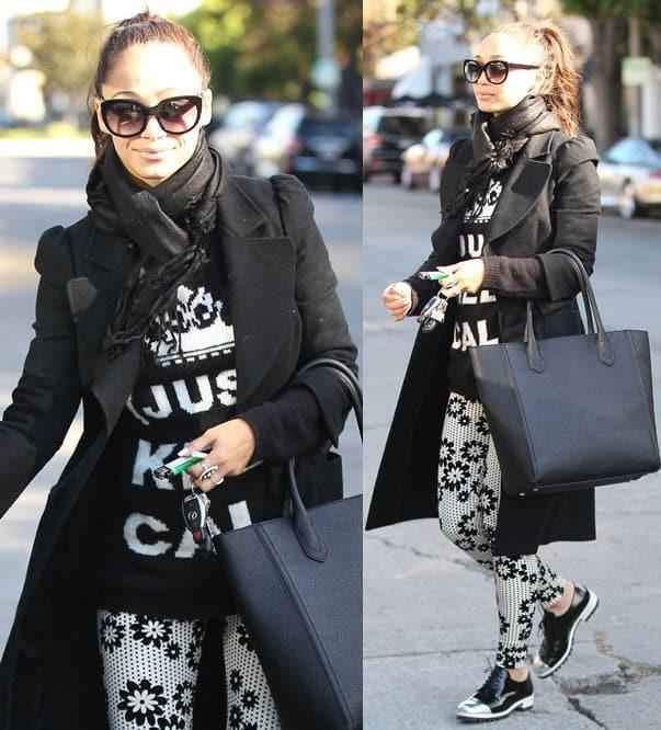Cara Santana shopping at Melrose Place