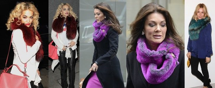 How to Wear a Colorful Fur Scarf: 3 Super Chic Ways