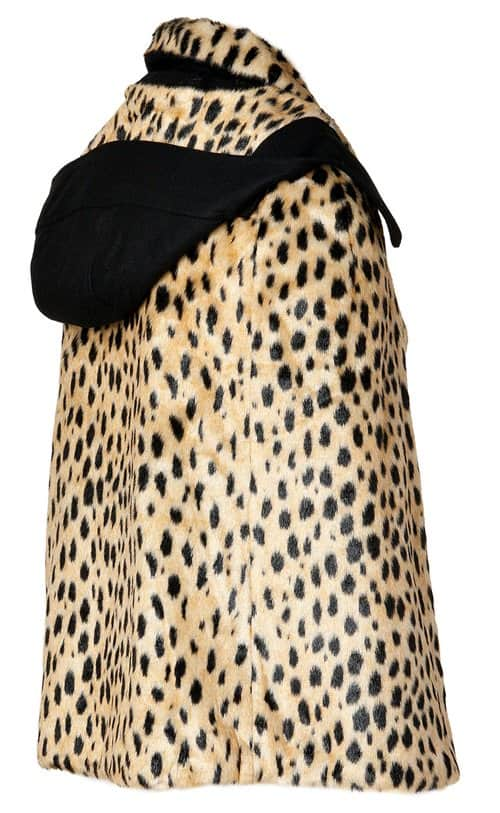 juicy couture cheetah print cape with detachable collar2