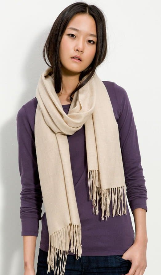 nordstrom tissue weight cashmere and wool wrap