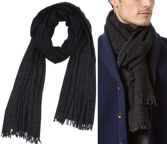 rag bone cube stripe check scarf 2-horz