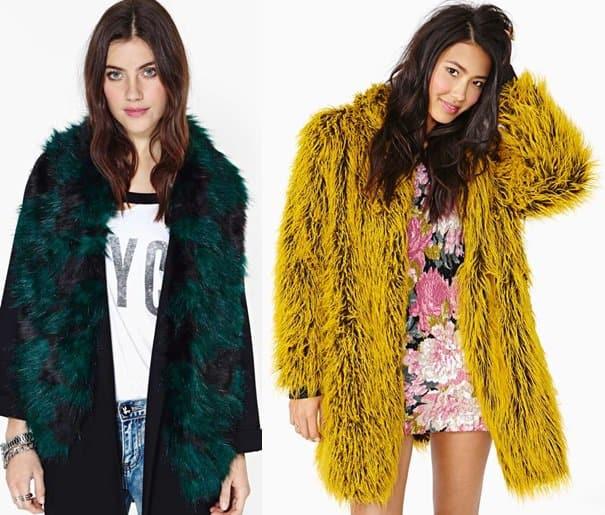 Nastygal Bernadette Faux Fur scarf Bitching Nicolette Coat