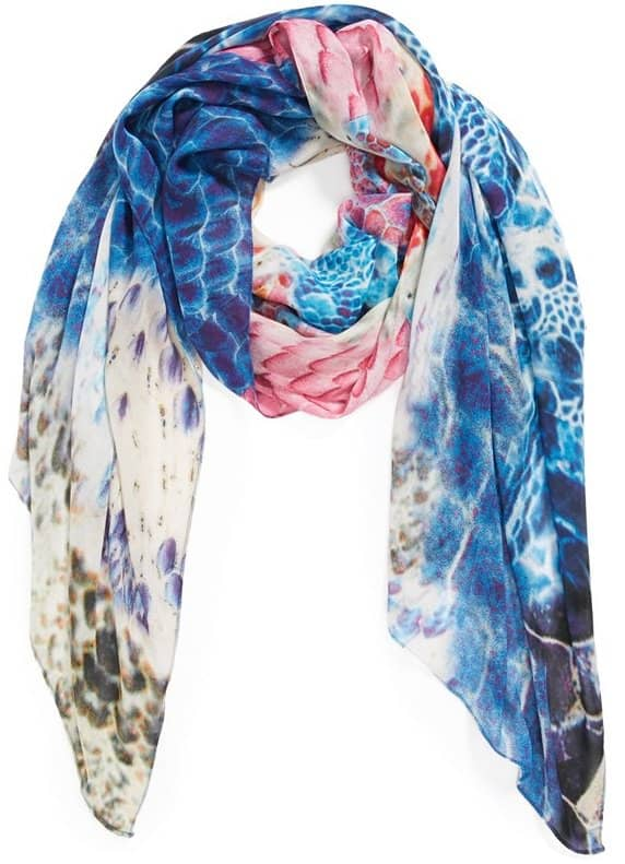 front row society caruncle reptile print scarf