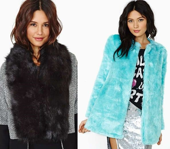 hat attach faux fur minx scarf nastygal colored faux fur jacket