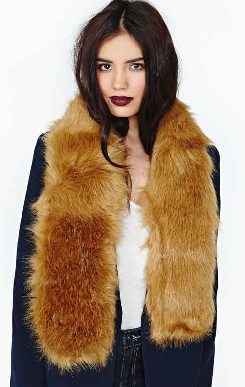 hat attack wildcard faux fur scarf