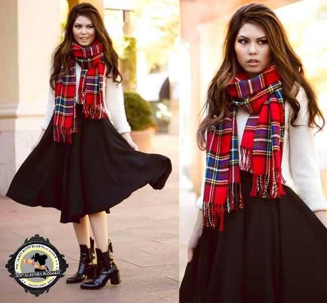lychee style blog tartan scarf careese-horz
