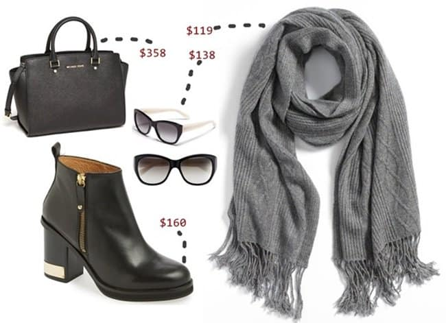 nordstrom cable knit scarf