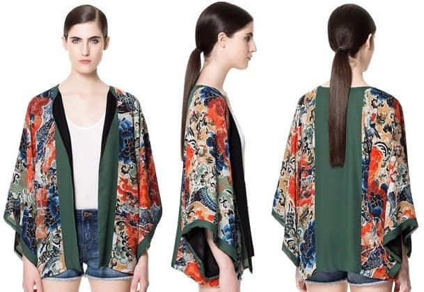 zara japanese print kimono-horz