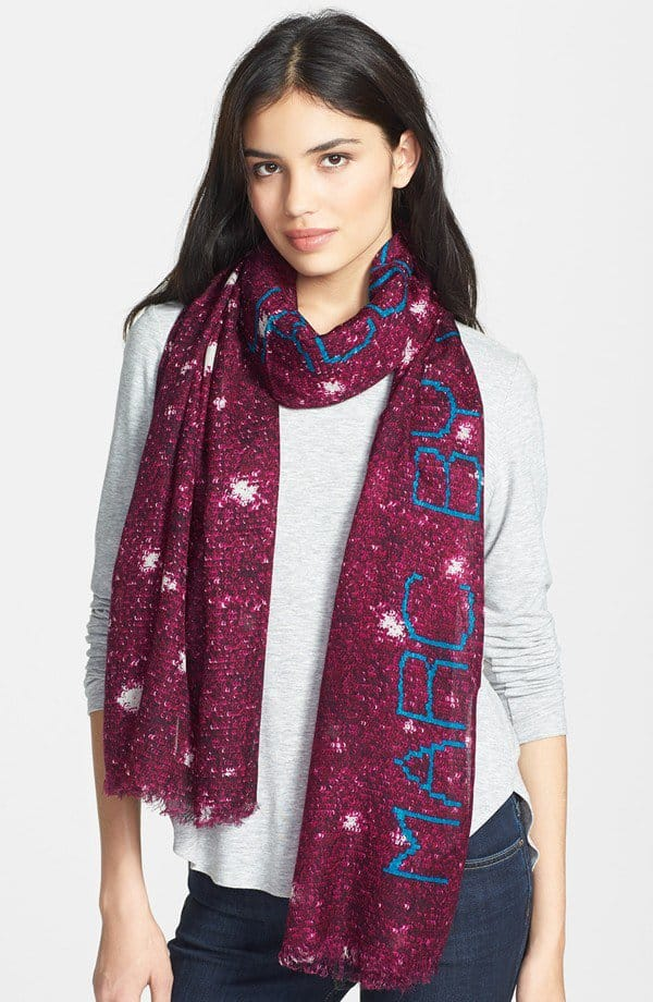 MARC by Marc Jacobs sequin print wool and silk scarf