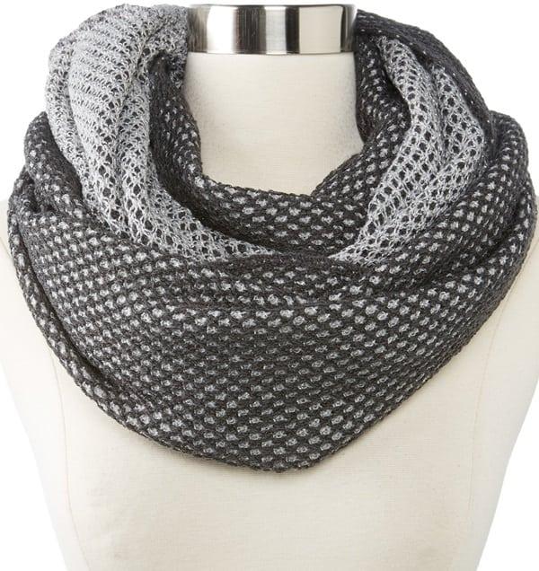 echo design reversible sparkle tube scarf
