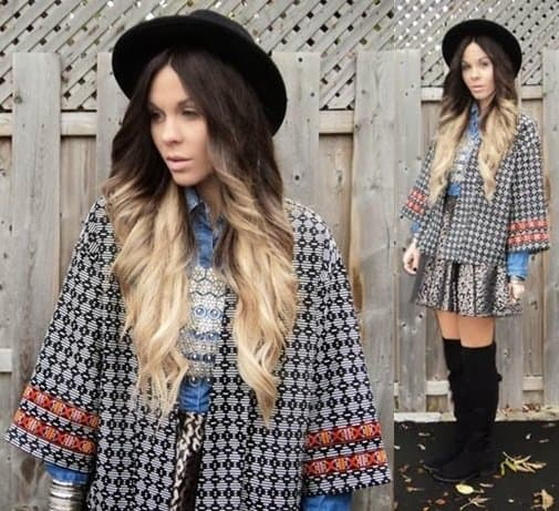 Katia shows how to wear print-on-print with a kimono