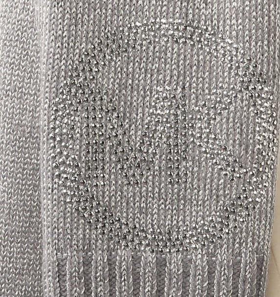 michael michael kors knitted scarf lurex sparkle -2