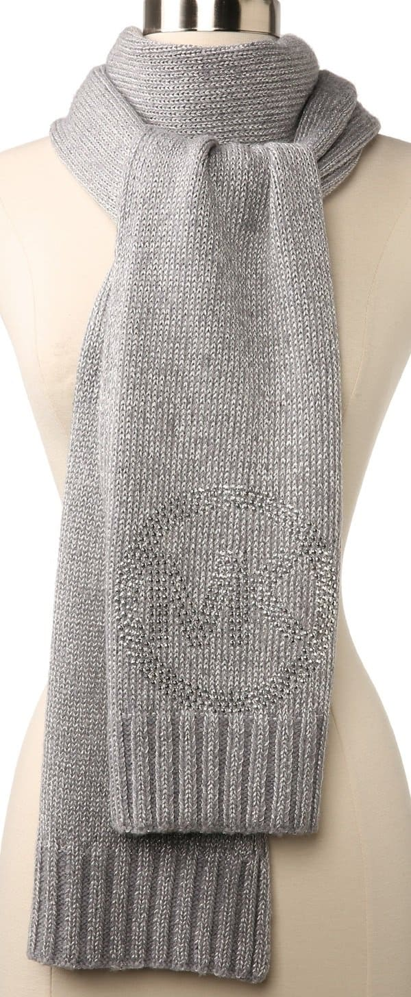 michael michael kors knitted scarf lurex sparkle