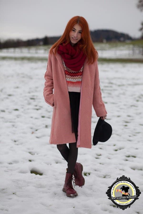 michaela scalisii blog infinity scarf style