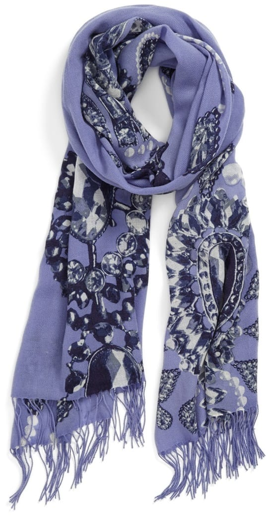 nordstrom romantic jewels wool cashmere scarf