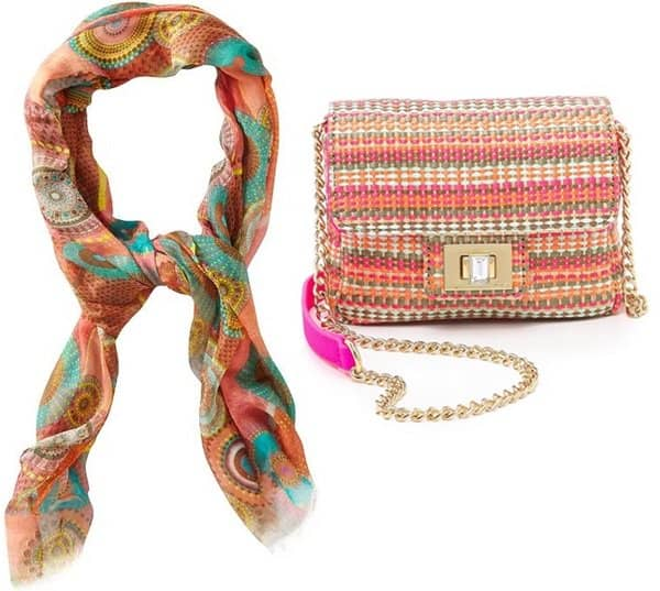 spun subtle luxury a beautiful life scarf with juicy couture bag
