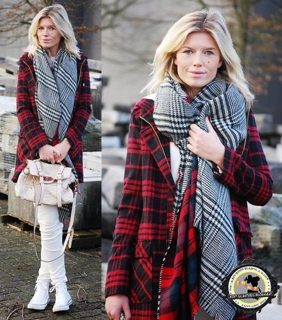 Valerie shows how to mix three different tartan prints in one outfit
