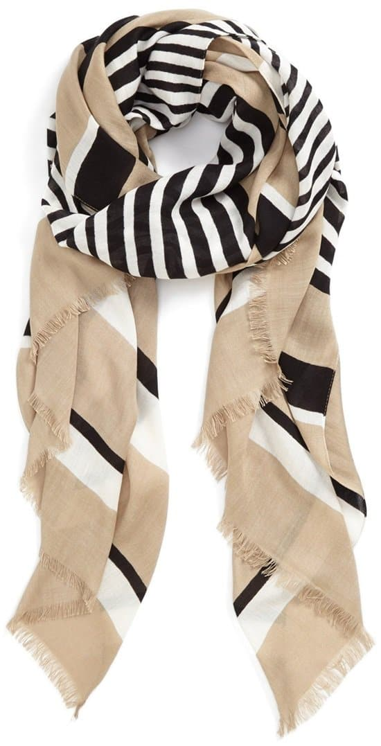 vince camuto striped oversized wrap