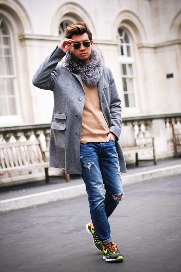 alexander liang london fashion week fur scarf style