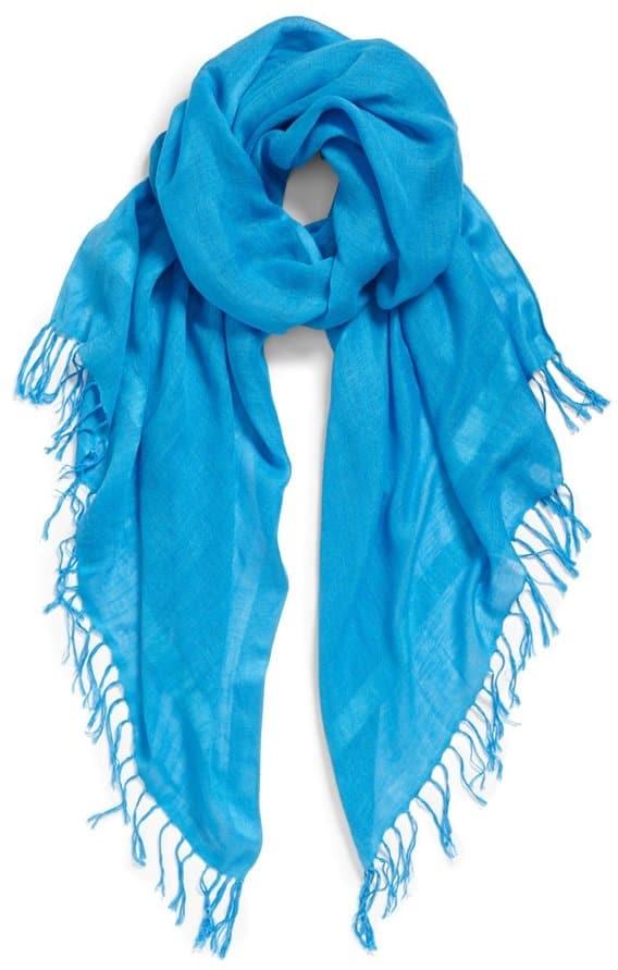 halogen linen blend scarf