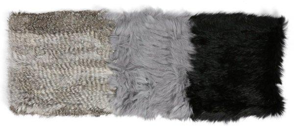 la fiorentina genuine rabbit fur infinity scarf 2