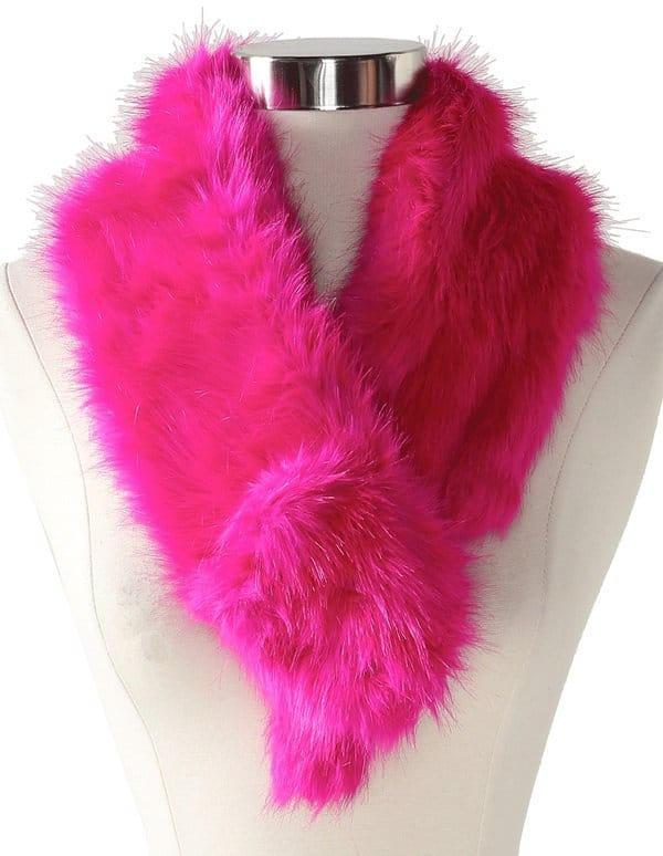 marc by marc jacobs rabbit fur scarf