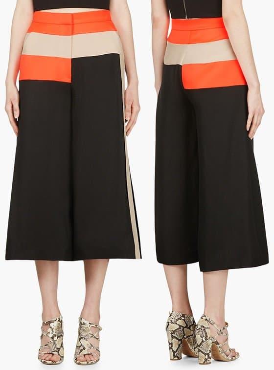 roksanda ilincic black cropped wide leg hepworth trousers-horz