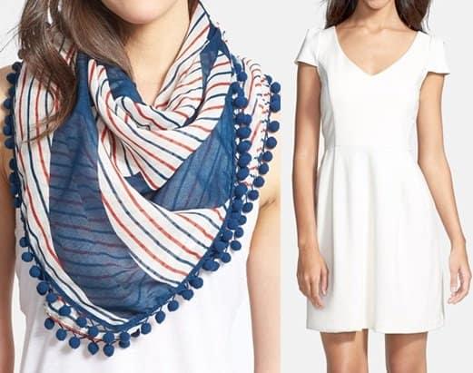 tory burch fleet stripe scarf amanda uprichard pone dress