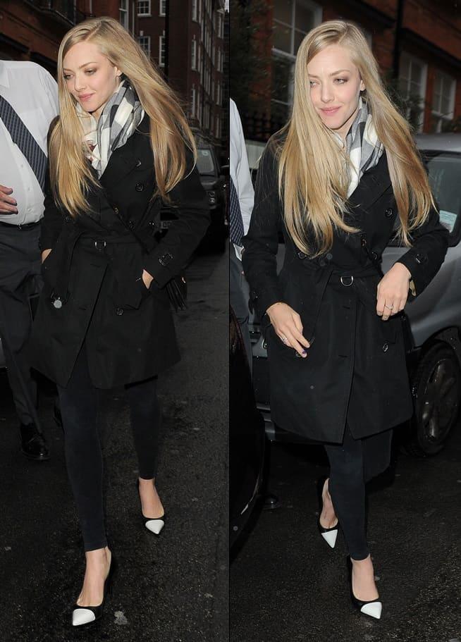 Amanda Seyfried departs Claridge's hotel