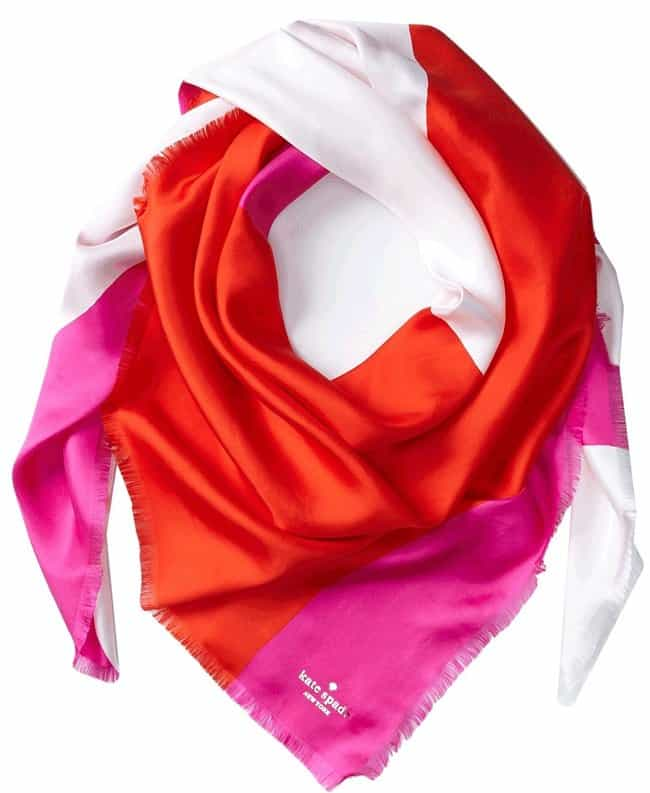 Kate Spade Rio Swirl Large Silk Scarf