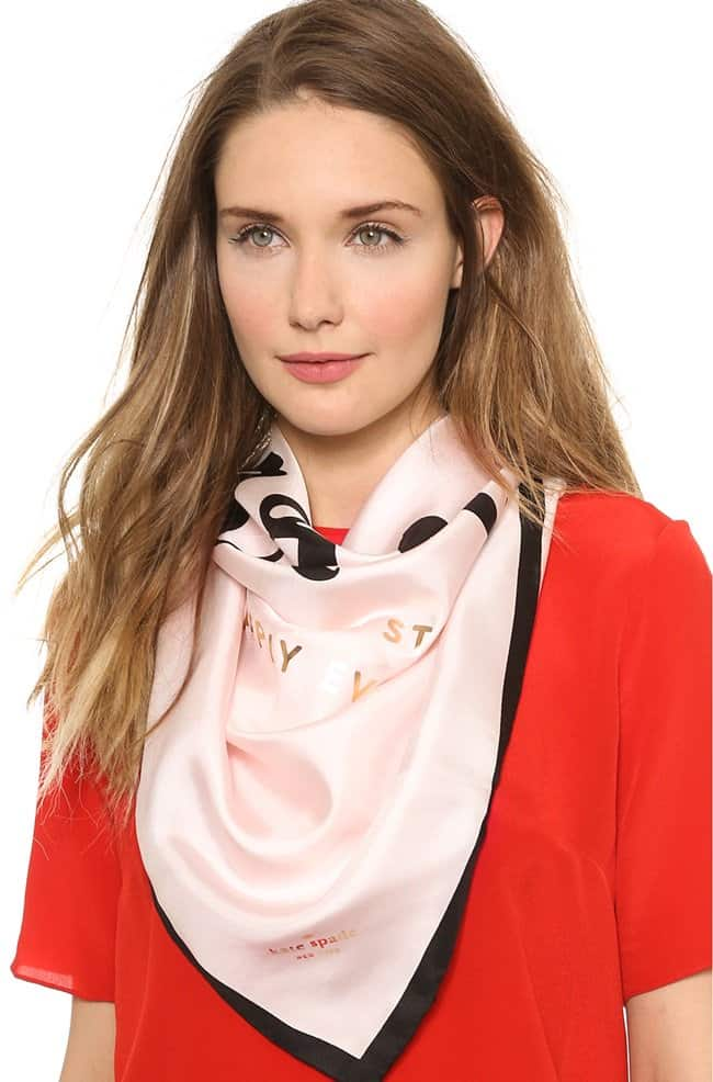 kate spade just married scarf
