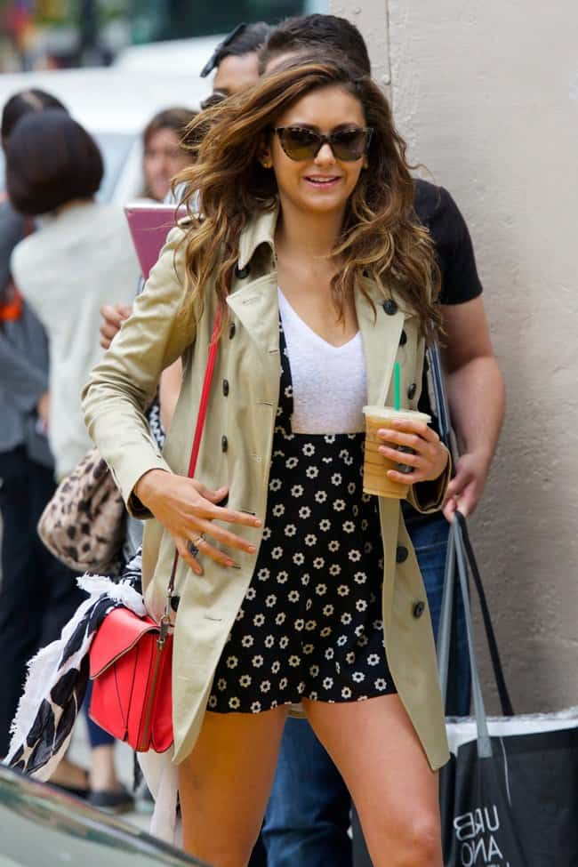 Nina Dobrev out in New York