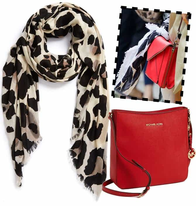 vince camuto cheetah calling scarf