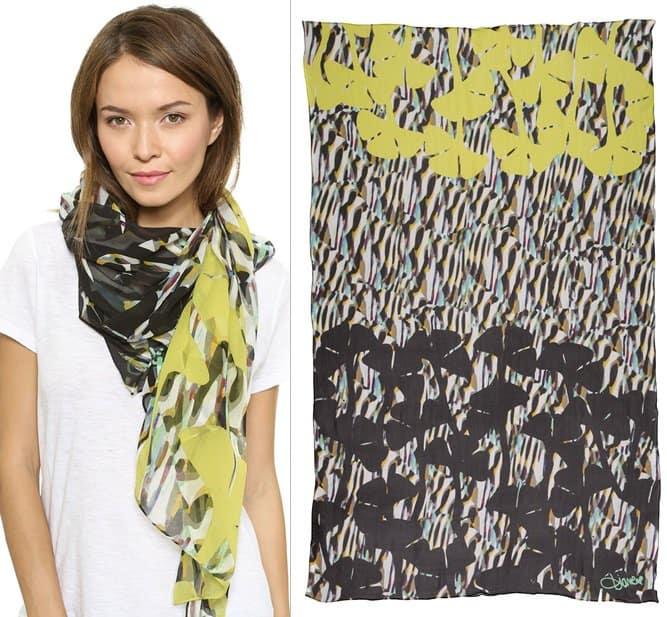 diane von furstenberg washed chiffon scarf-horz