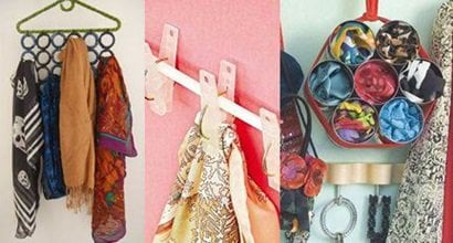 10 Creative Scarf Organizer and Easy-To-Do Storage Ideas