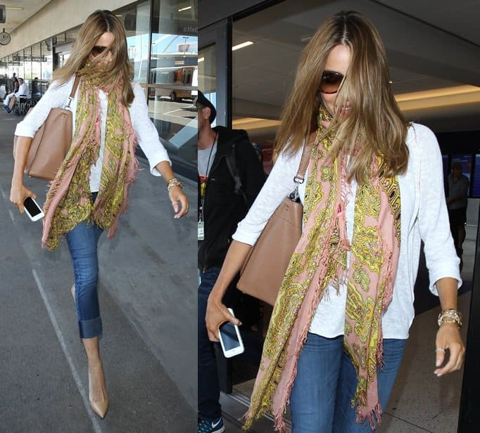 Sofia Vergara arrives at Los Angeles International (LAX) airport