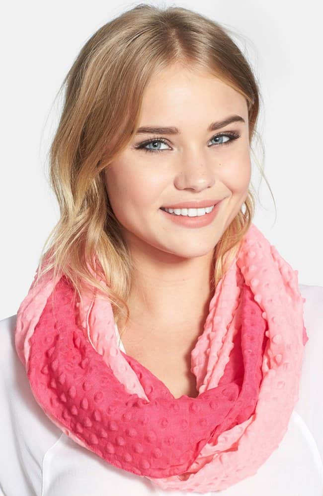 echo ombre bubble infinity scarf
