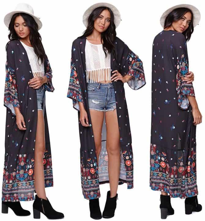 Kendall & Kylie for Pacsun Maxi Kimono