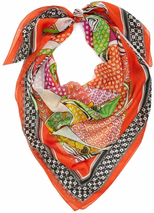 nordstrom animal patchwork print scarf