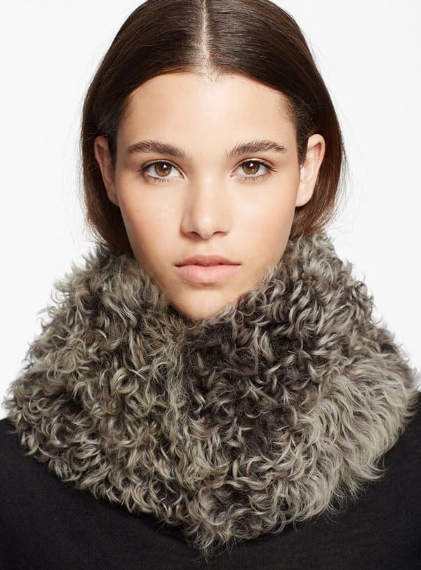 pologeorgis dyed lamb fur scarf