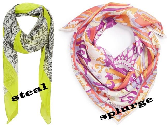 topshop hackney map scarf-horz