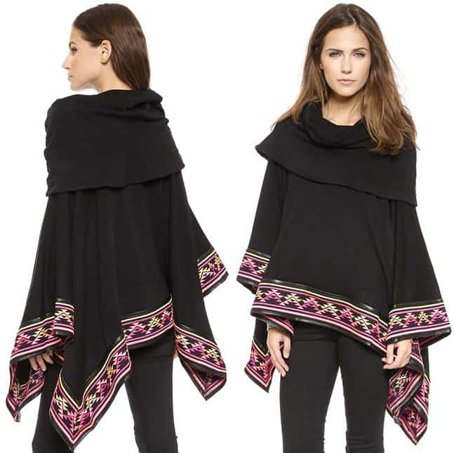 6 Short Road Deserts Embroidered Poncho 2-horz