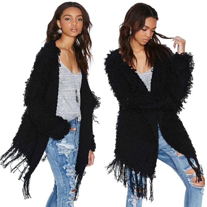 nastygal gettin shaggy with it jacket 2-horz
