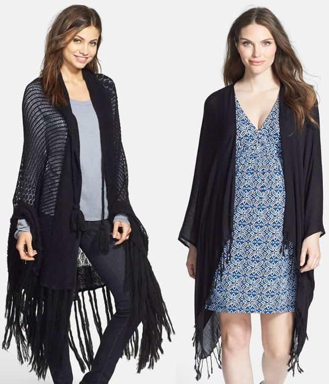 wildfox and tart maternity fringe wrap shawl